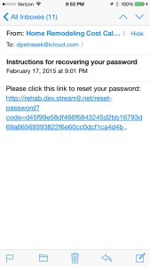Password Link Email